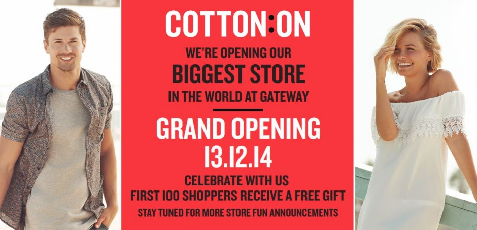 Cotton On opens at Gateway